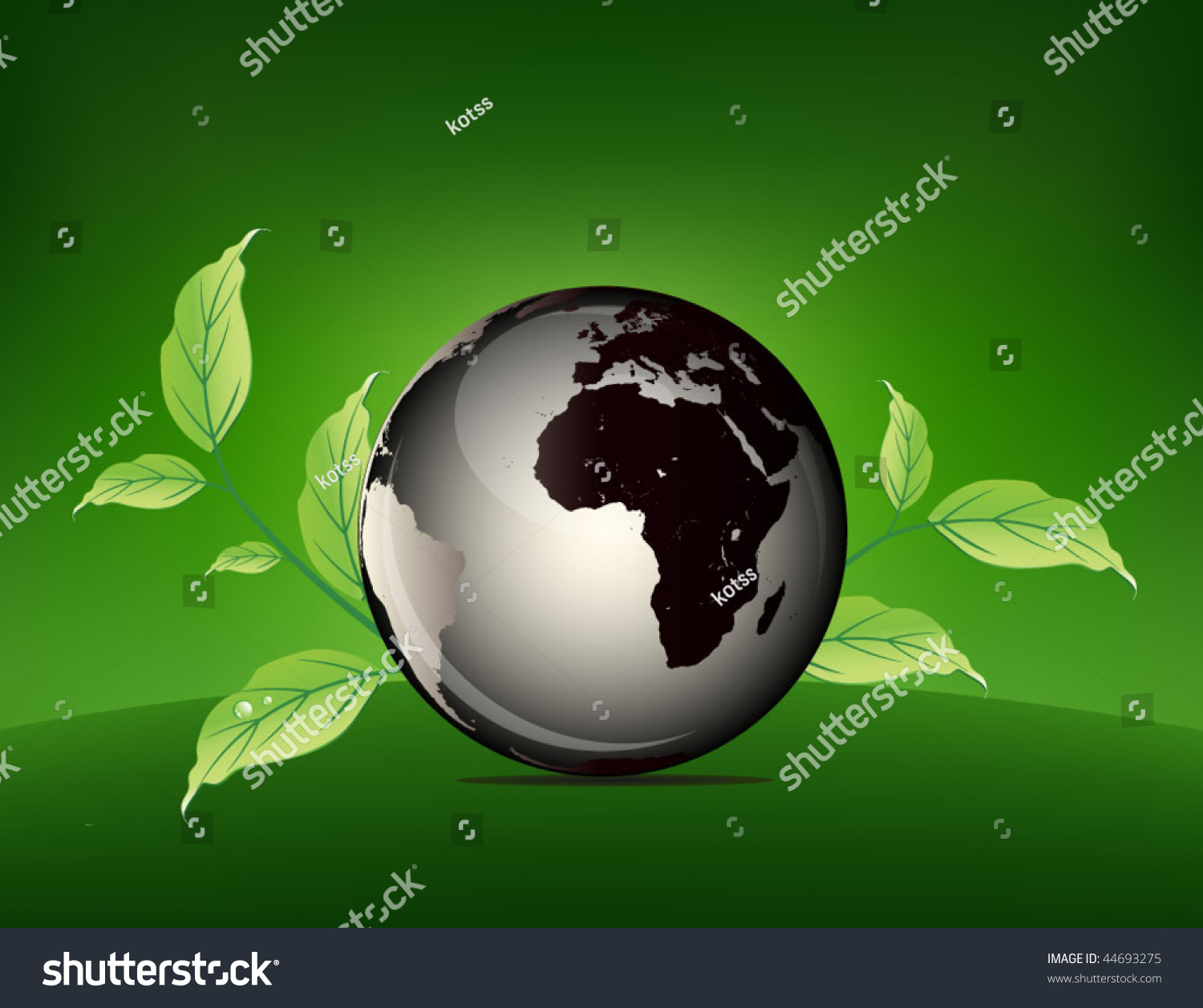 Green World - Globe Ecology Poster Stock Vector ...
