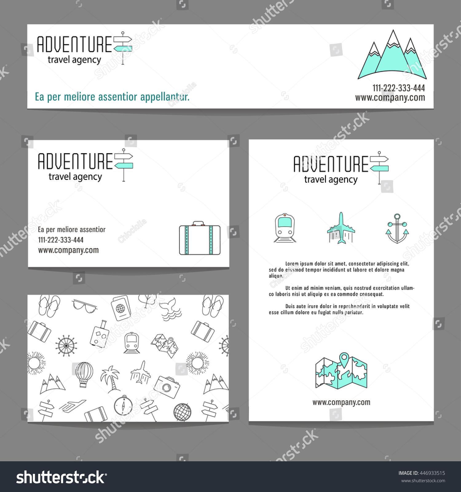 Travel business cards templates modern style stock vector travel business cards templates with modern style thin line elements magicingreecefo Choice Image