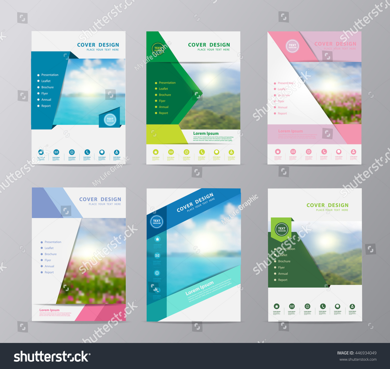 Annual Report Brochure Flyer Design Template Stock-Vektorgrafik ...