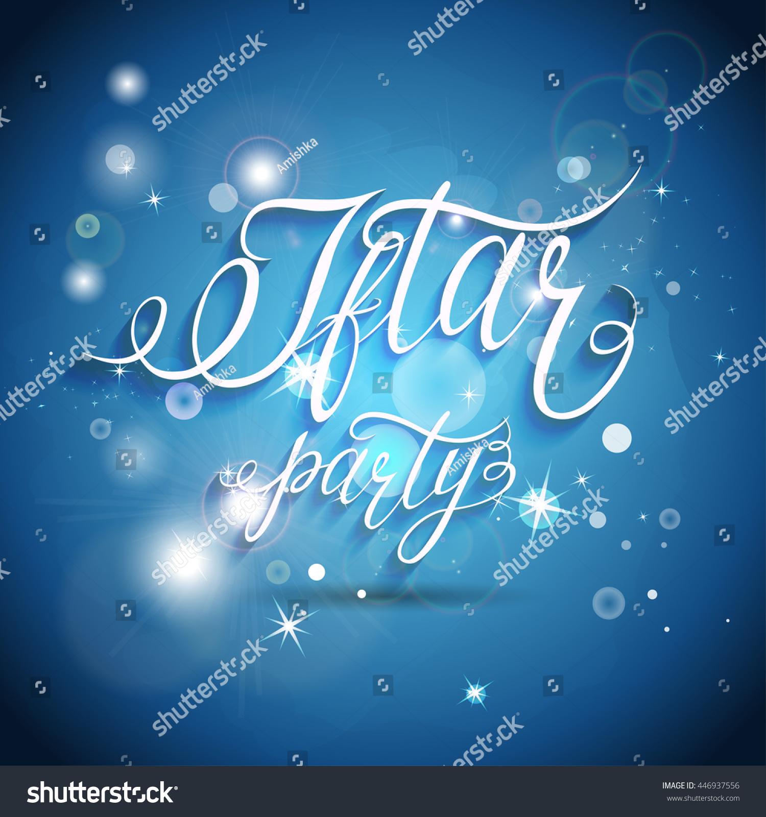 Vector Illustration On Theme Happy Ramadan Stock Vector 446937556