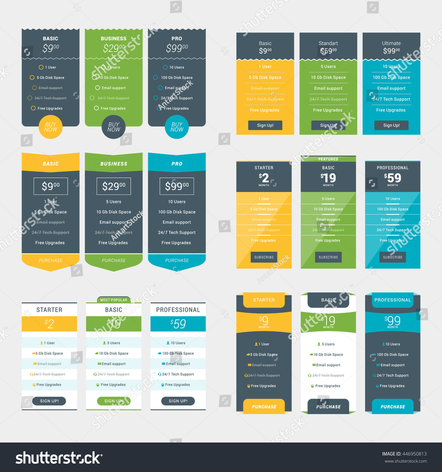 Subscription pricing table ui template best free for Table design templates in html