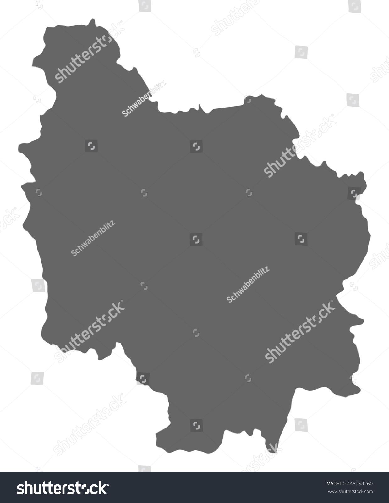 Map Burgundy France Stock Vector Royalty Free 446954260 Shutterstock