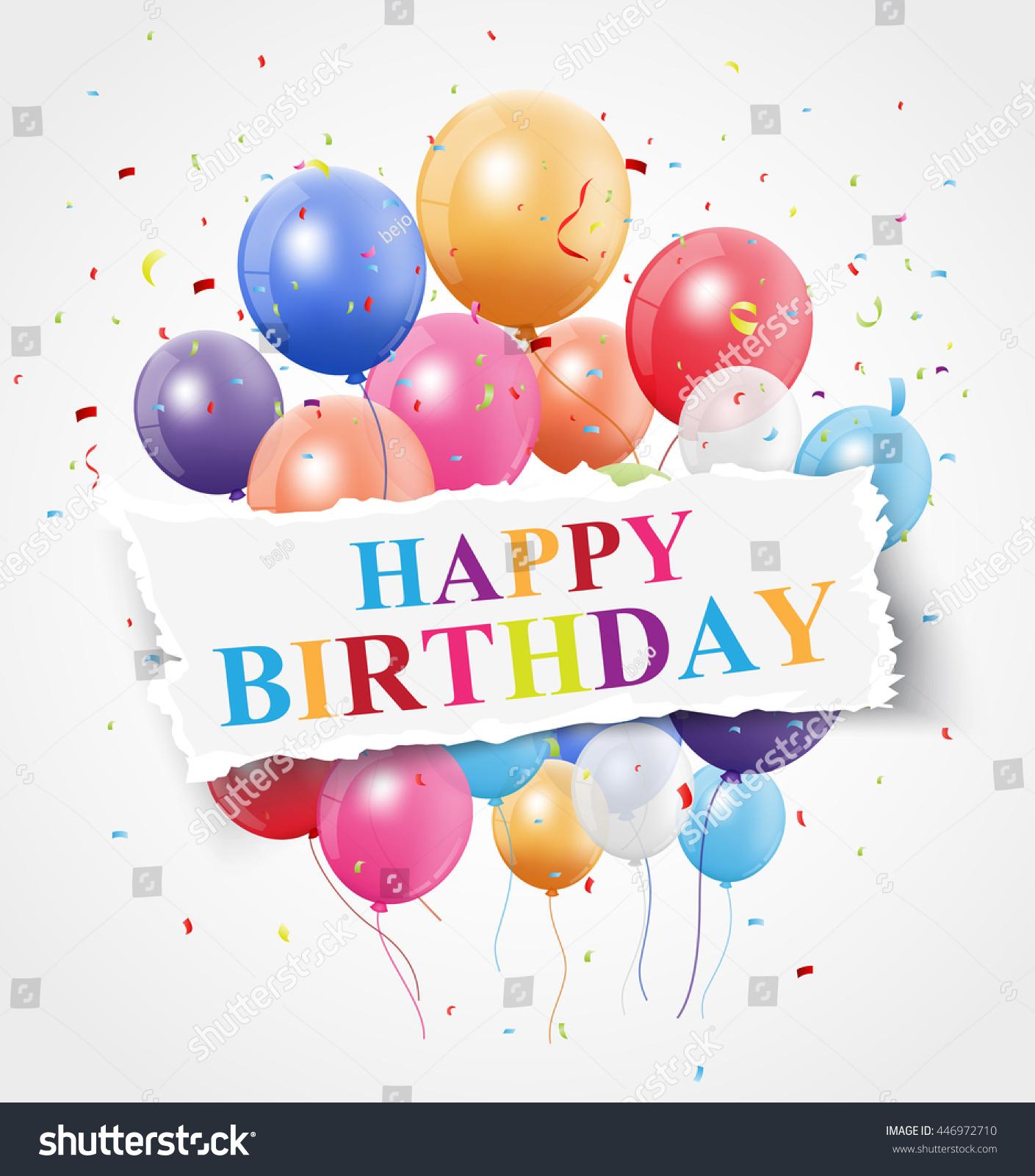 Happy Birthday Greeting Card Design Stock Vector Royalty Free