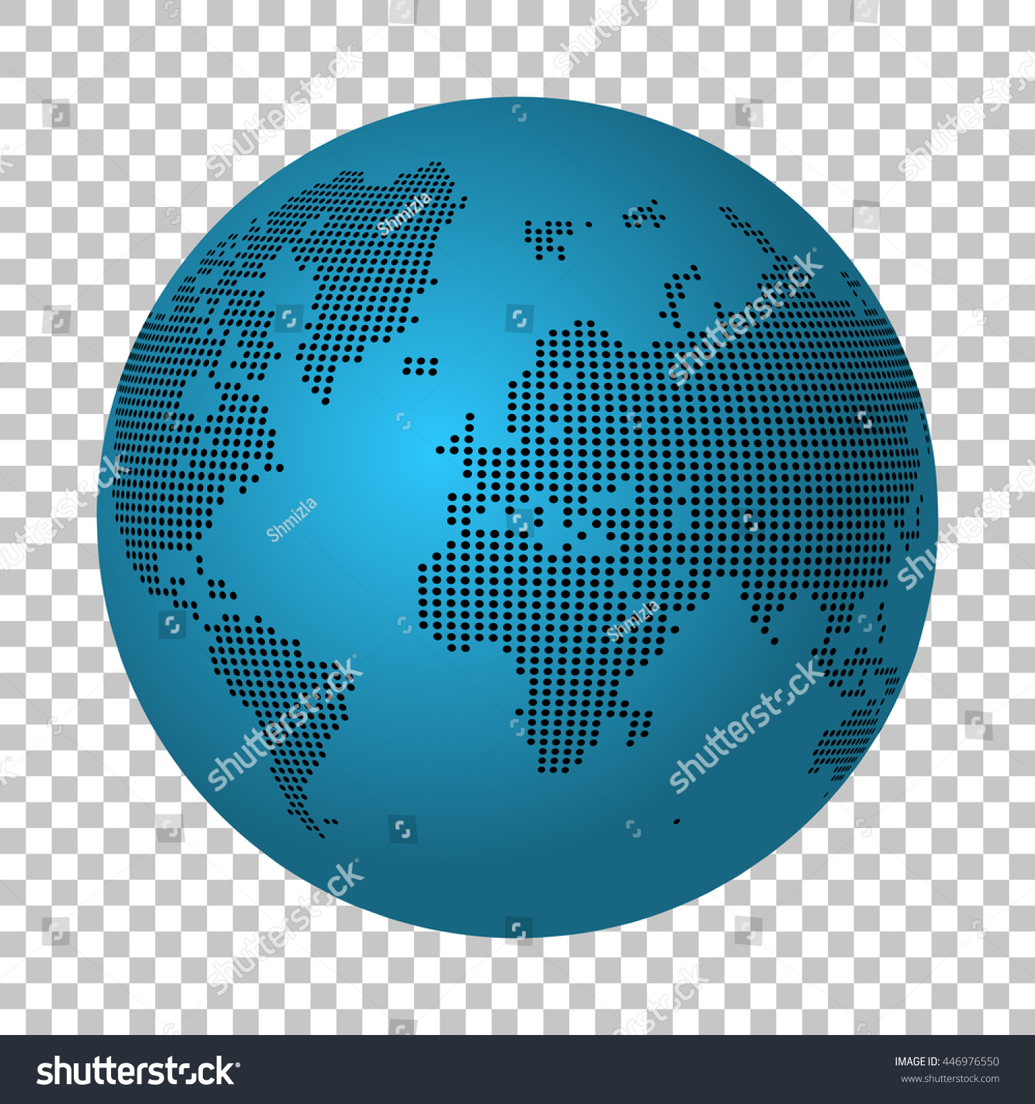 Abstract world map made dots earth stock vector 446976550 shutterstock gumiabroncs Choice Image