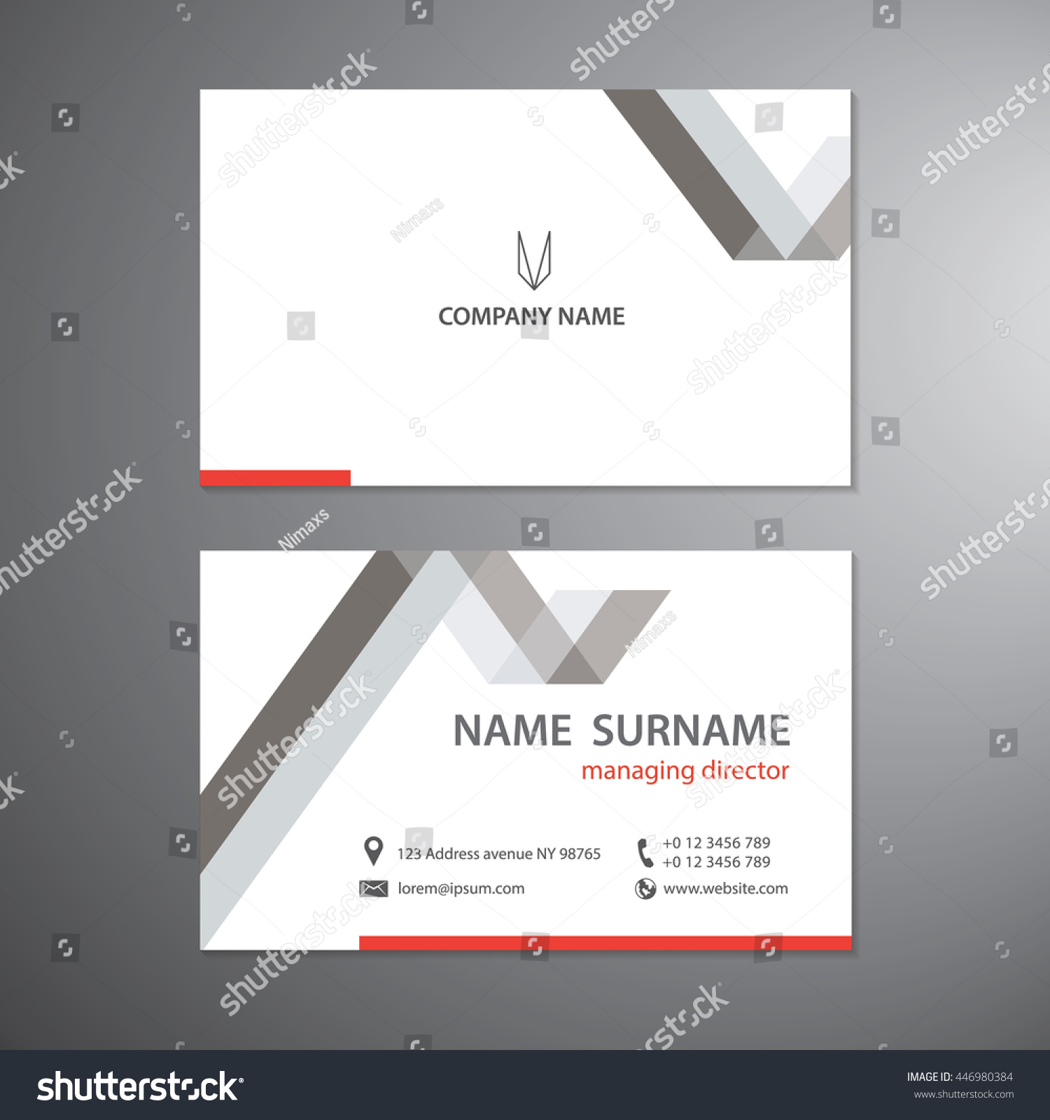 white business cards set vector design stock vector
