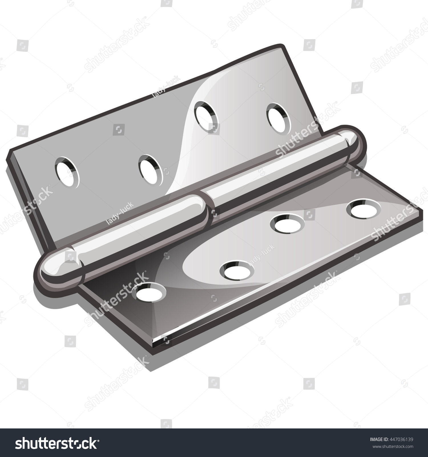 Door hinge isolated on white background. Construction and finishing materials. Vector illustration.  sc 1 st  Shutterstock & Door Hinge Isolated On White Background Stock Vector 447036139 ... pezcame.com