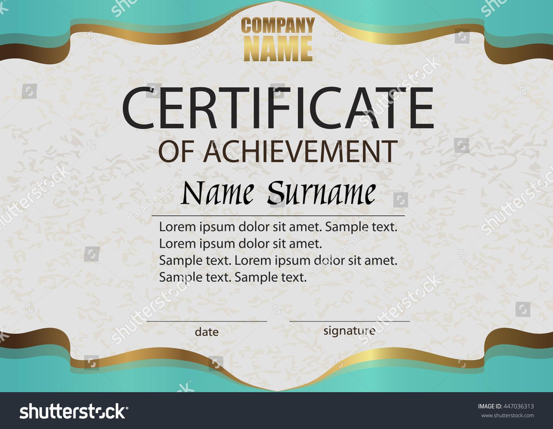 Certificate achievement reward winning competition award stock certificate of achievement reward winning the competition award winner horizontal elegant template yelopaper Choice Image
