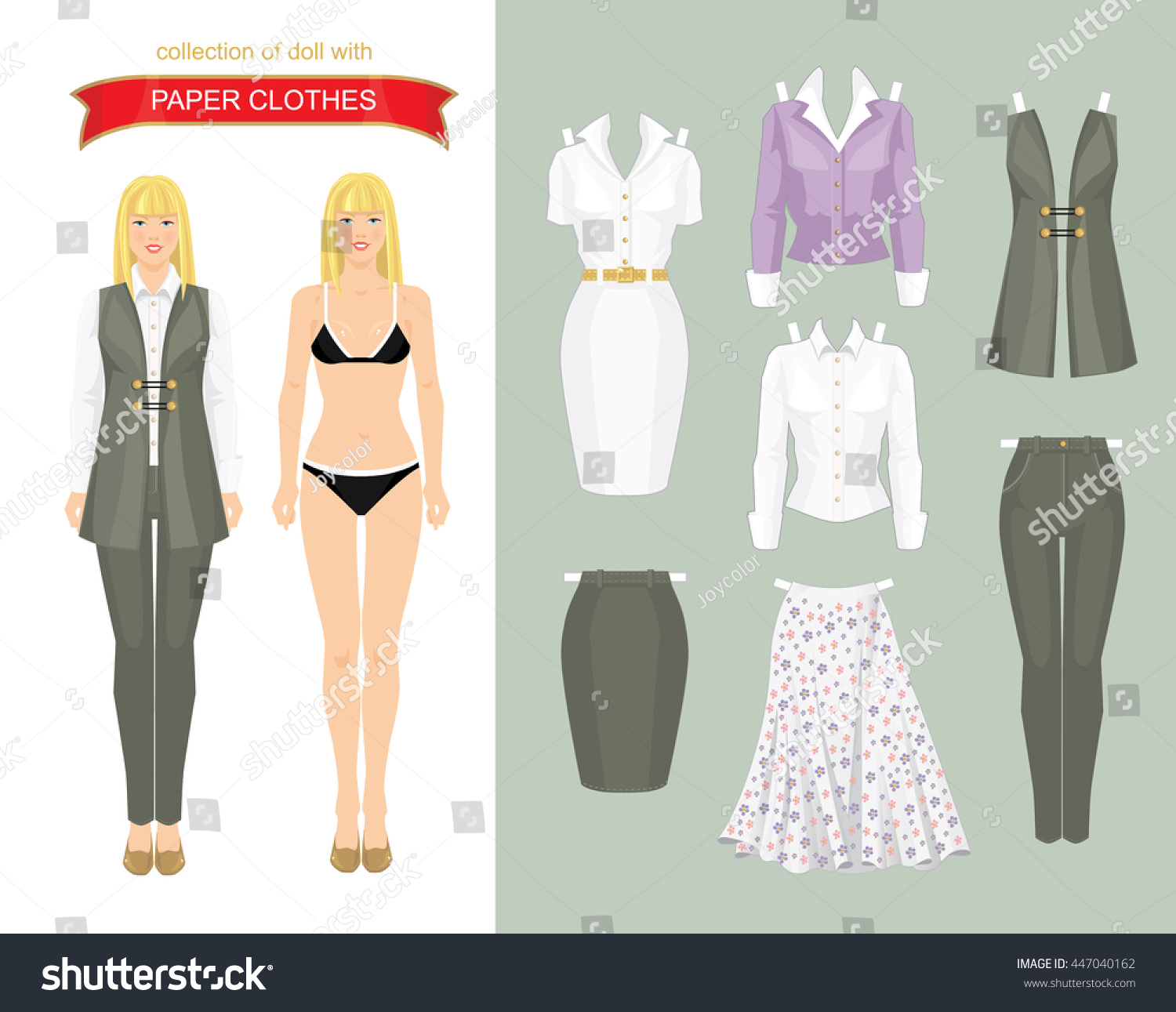 Paper Doll Clothes Body Template Vector Stock Vector Royalty Free