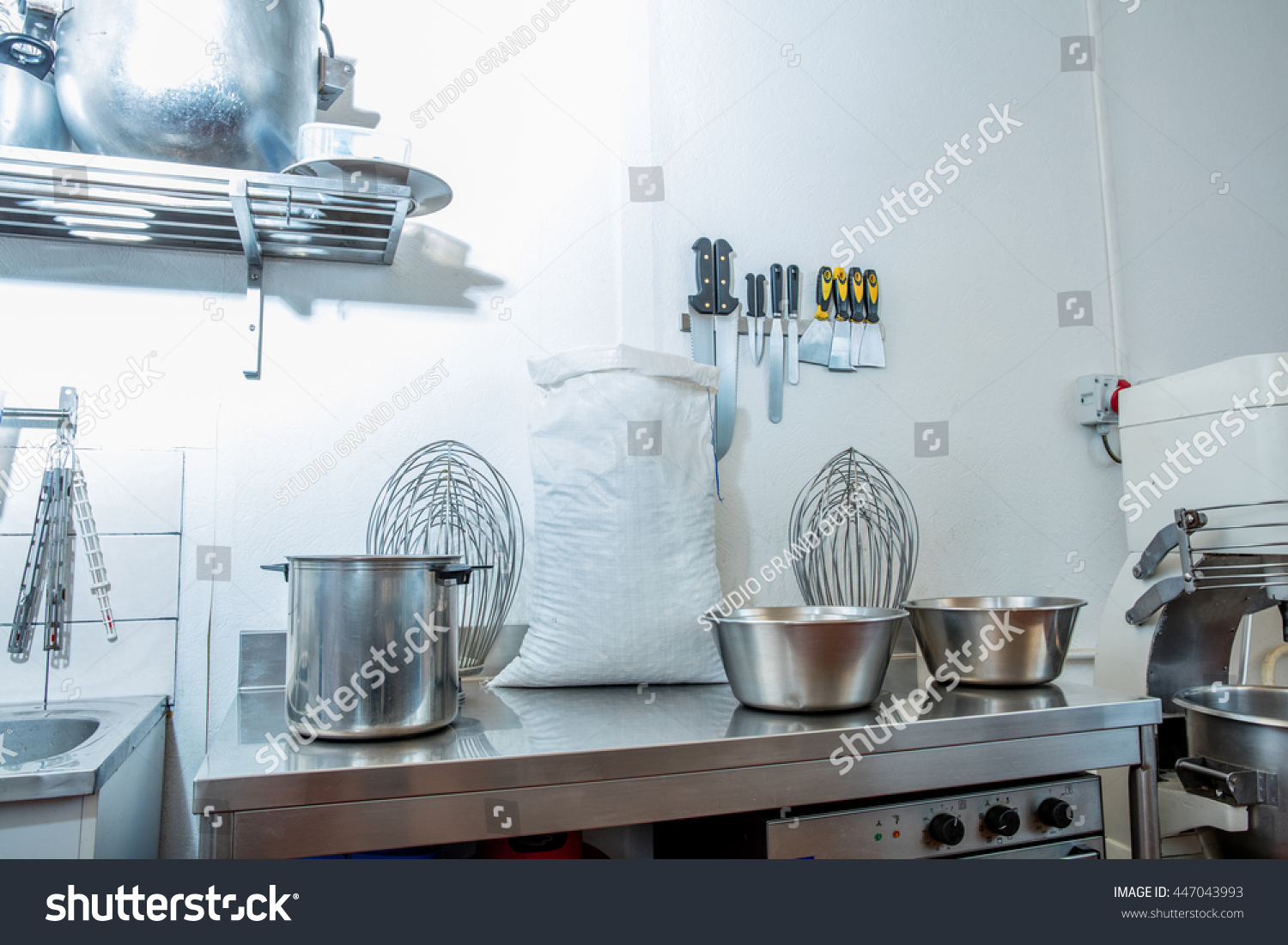 Industrial Commercial Utensils Accessories Big Whisks Stock Photo ...