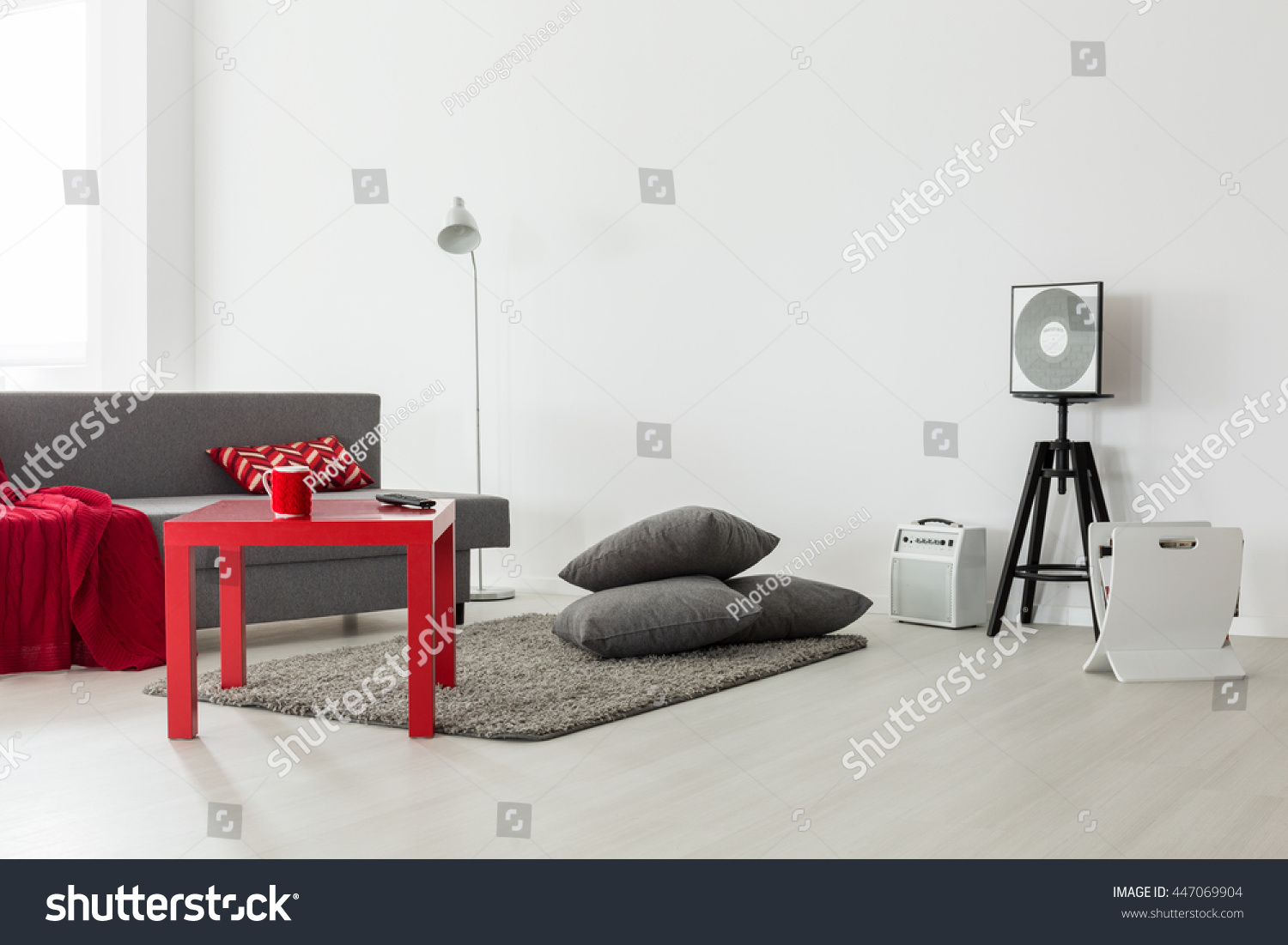 Swell Minimalist Interior Bright Living Room Grey Stock Photo Download Free Architecture Designs Scobabritishbridgeorg