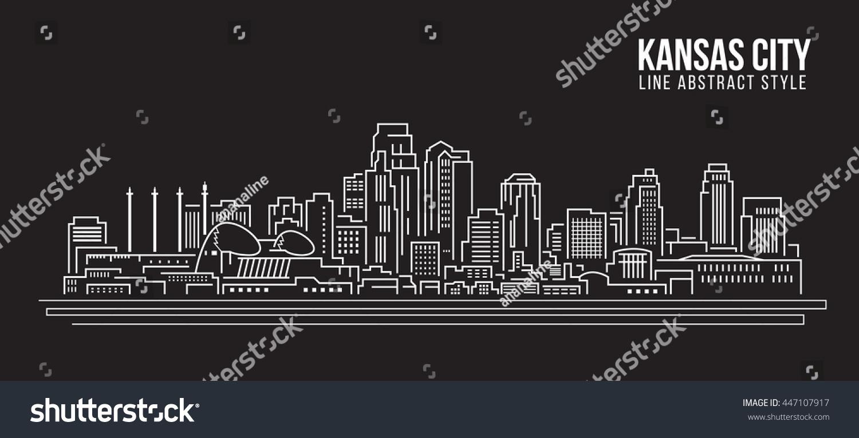 Line Art Ks : Cityscape building line art vector illustration stock