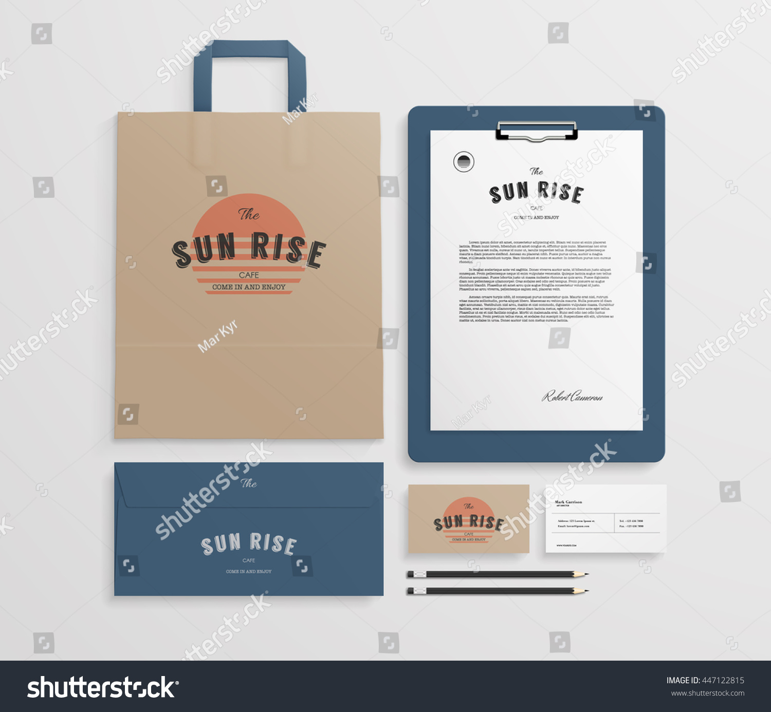 Corporate Identity Template Set Logo Sample Stock Vector 447122815 ...