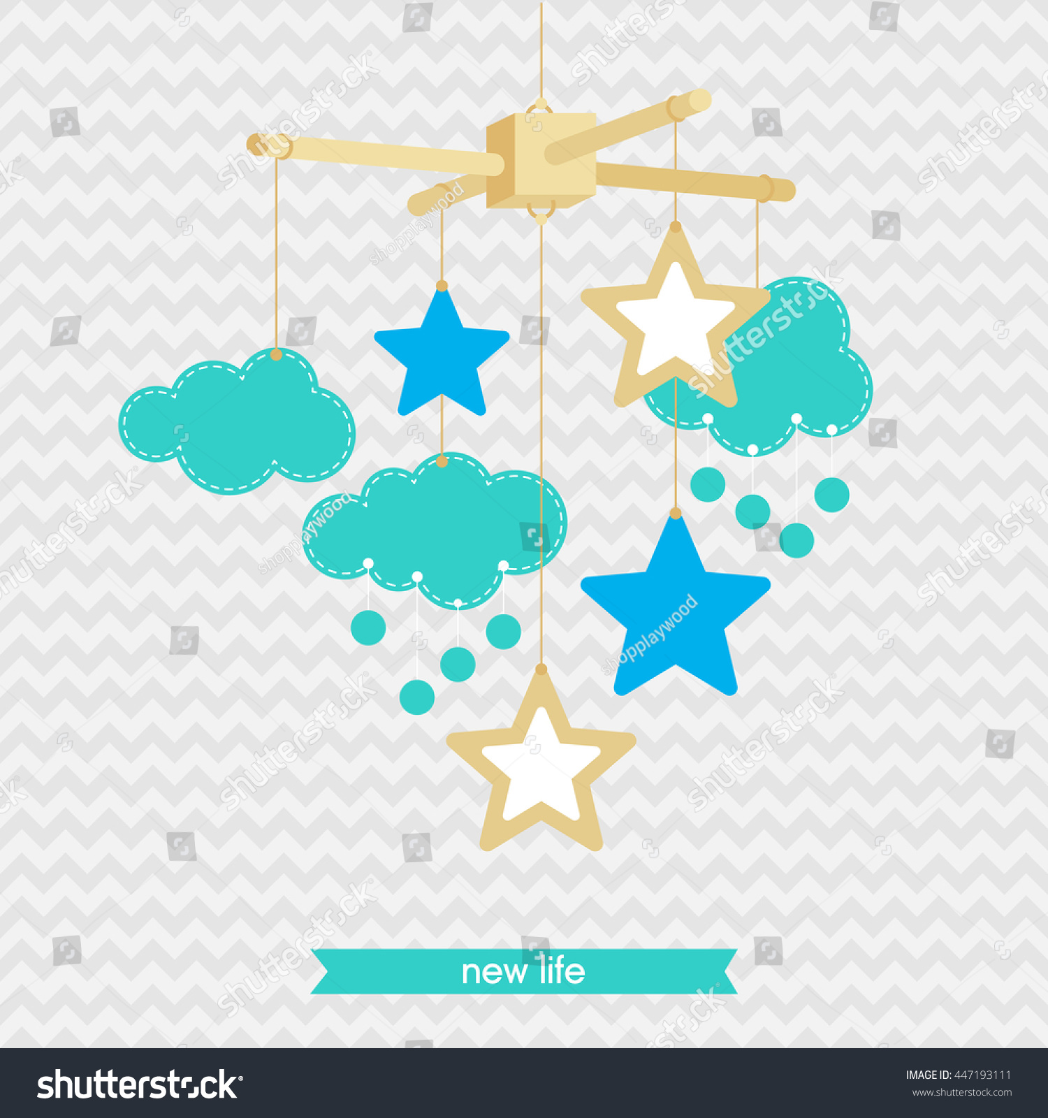 Baby Shower Invitation Template Illustration Baby Stock Vector