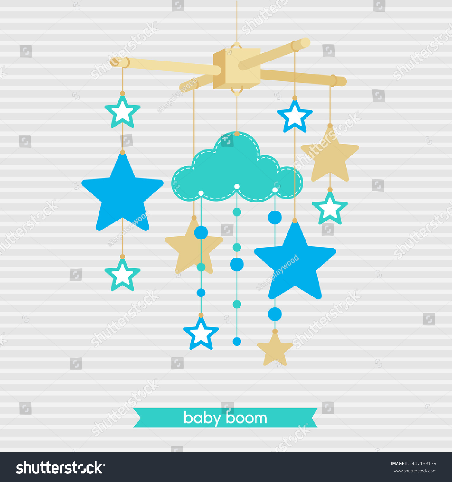 Baby Shower Invitation Template Adorable Illustration Stock Vector ...