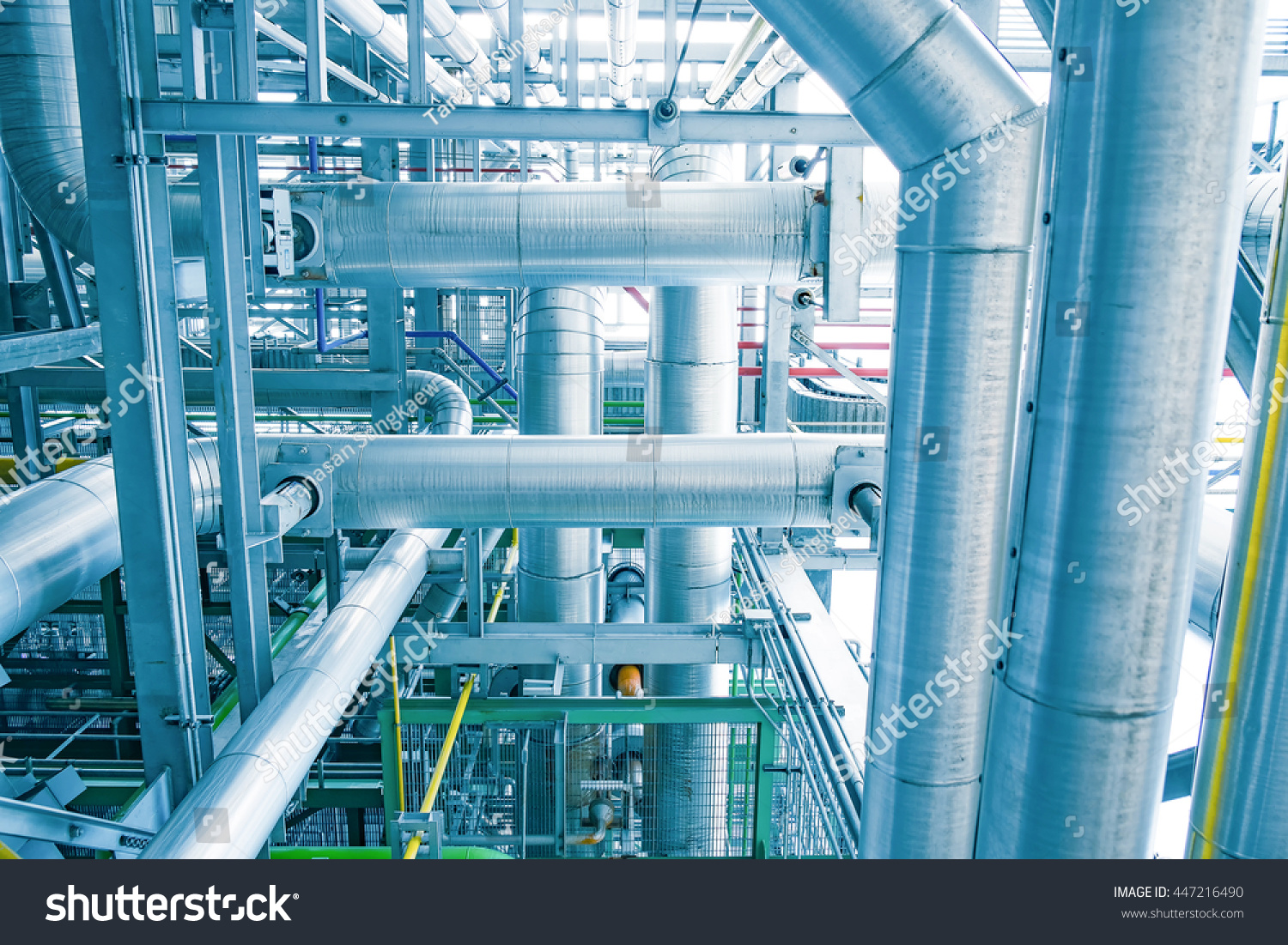 Steam Piping Thermal Insulation Boiler Power Stock Photo (Edit Now ...