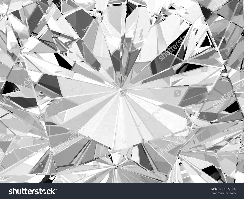 Realistic Diamond Texture Close Up 3d Stock Illustration 447258346 - Shutterstock