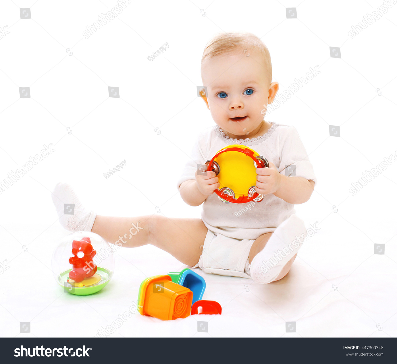 Cute Little Baby Playing Toys Stock Shutterstock