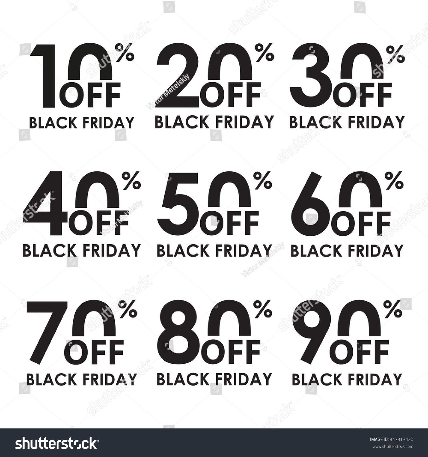 Royalty-free Sale icon set. Black Friday concept.… #447313420 Stock ...