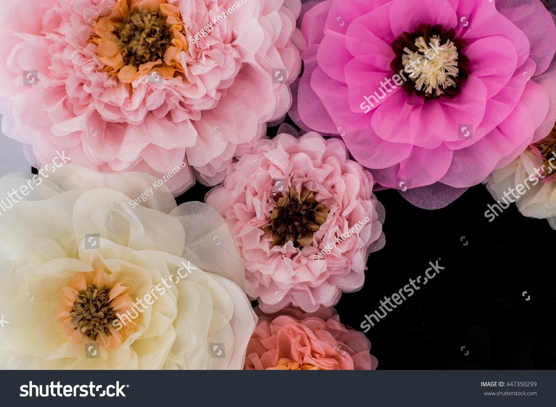 Wedding Decoration Photo Paper Flowers Press Stock Photo Edit Now