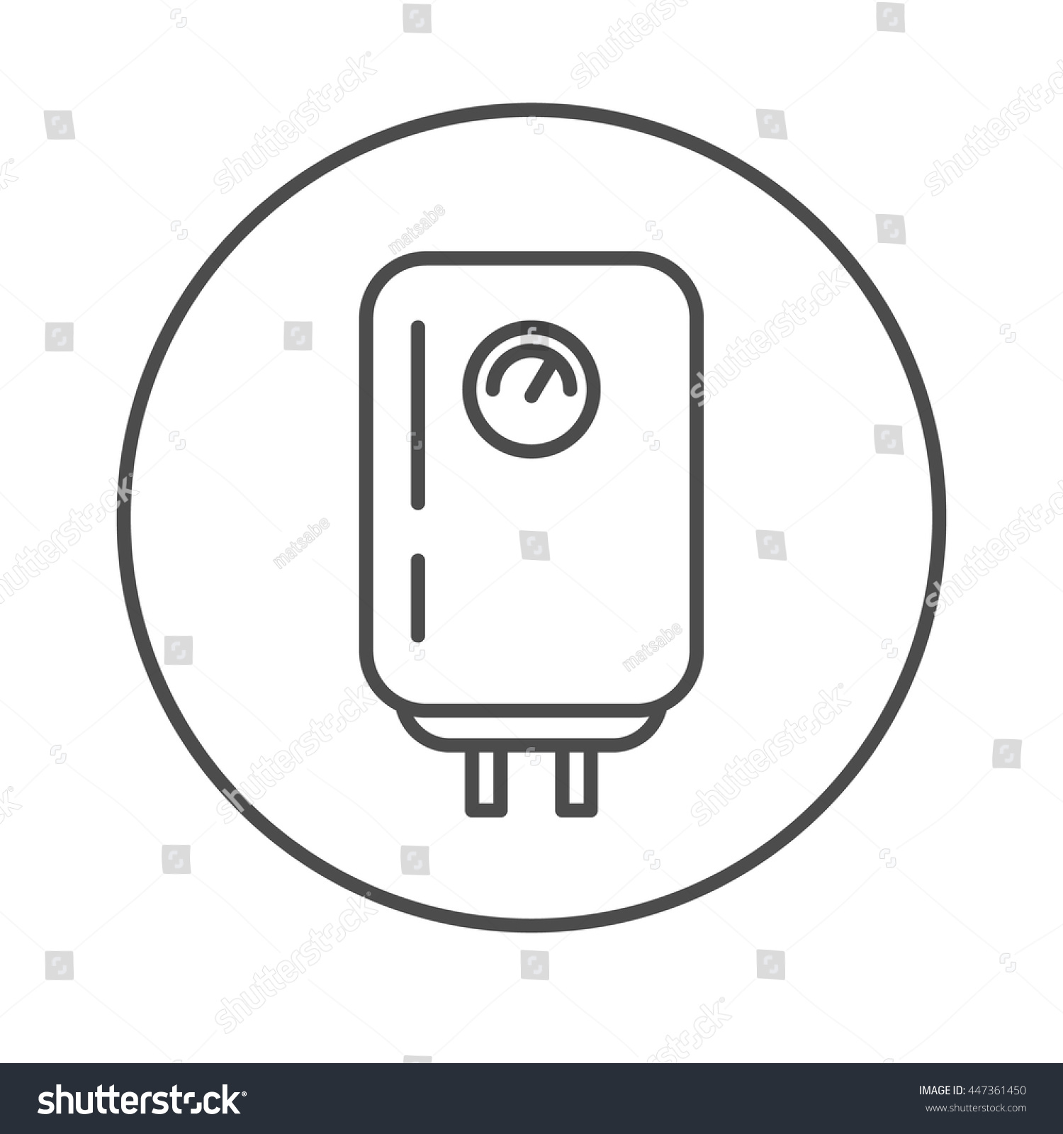 Boiler linear icon water heater lamp stock vector 447361450 boiler linear icon water heater lamp thin line design biocorpaavc
