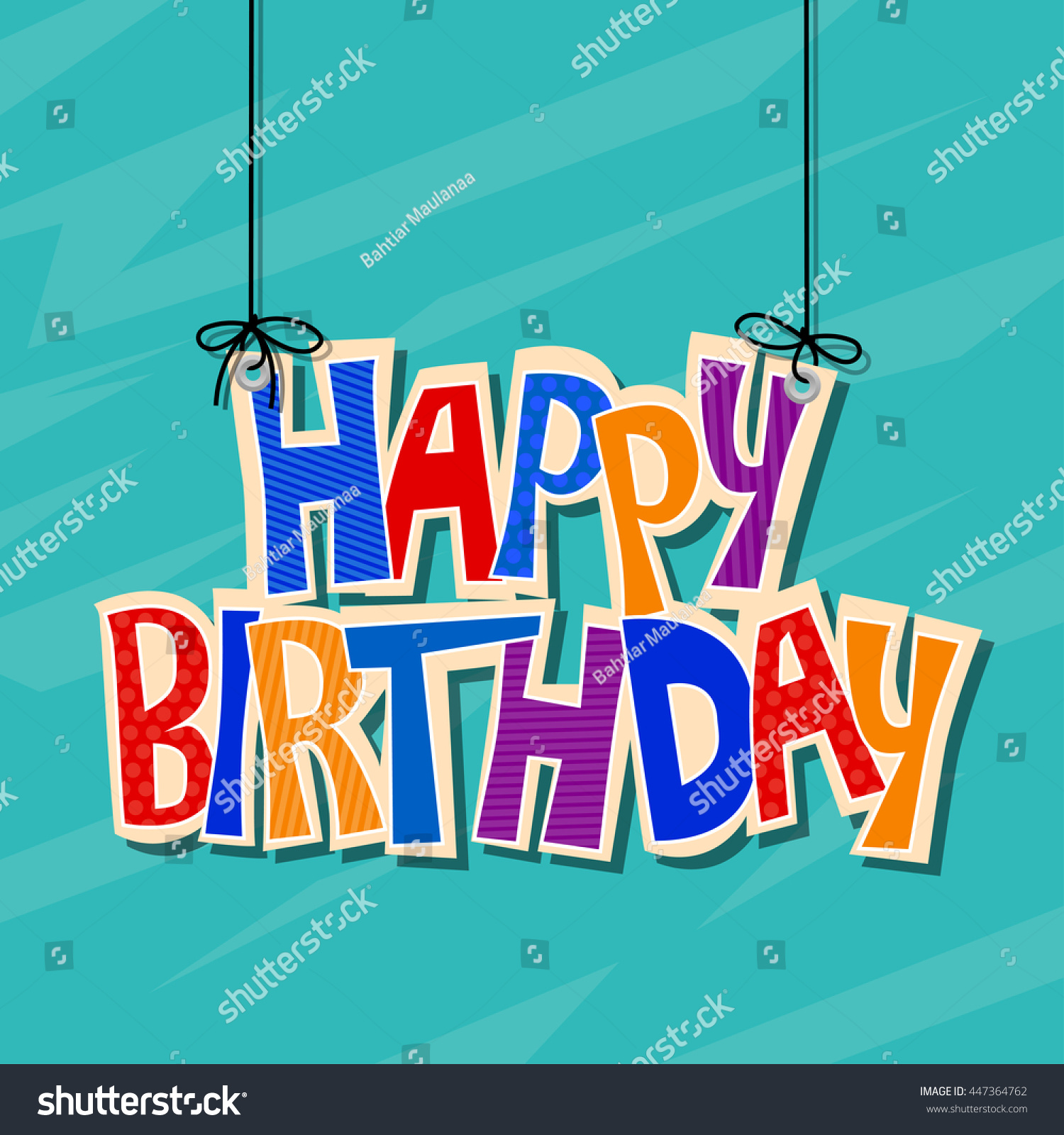 Happy Birthday Greetings Stock Illustration 447364762 Shutterstock