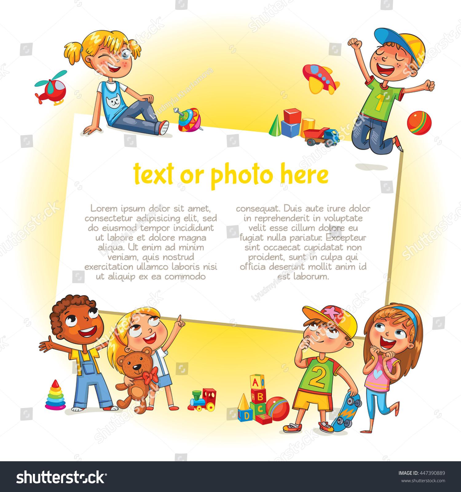 Template Advertising Brochure Ready Your Message Stock-Vektorgrafik ...