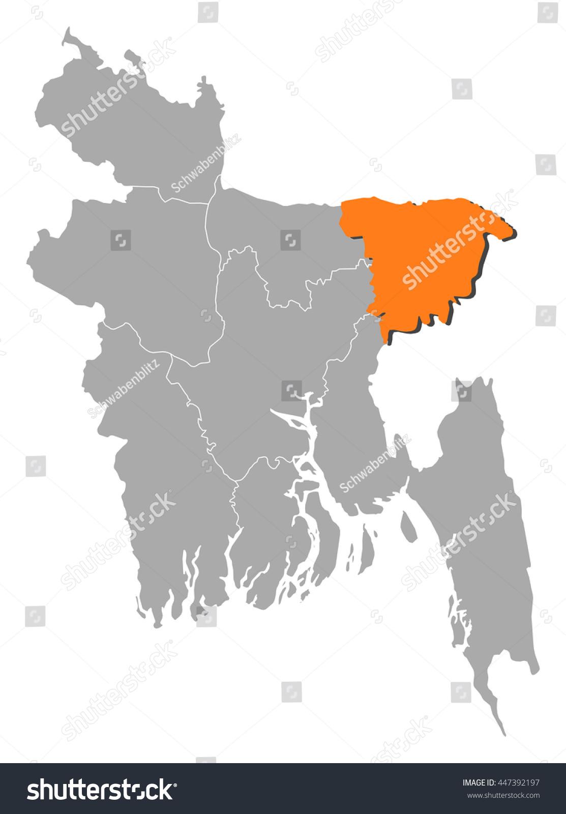 Map bangladesh sylhet stock vector 447392197 shutterstock map bangladesh sylhet gumiabroncs Image collections