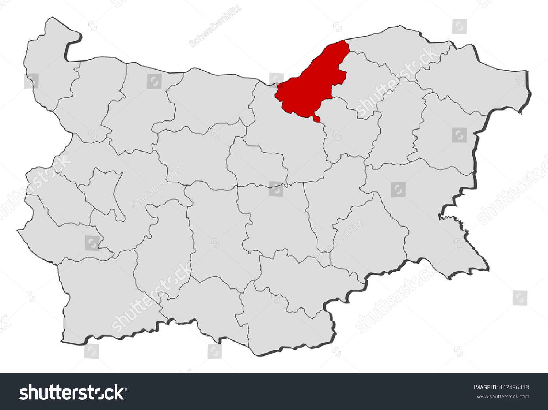Map Bulgaria Ruse Stock Vector 447486418 Shutterstock