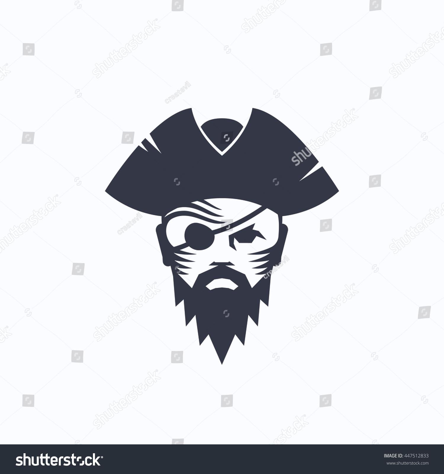 pirate head abstract vector logo template stock vector 447512833
