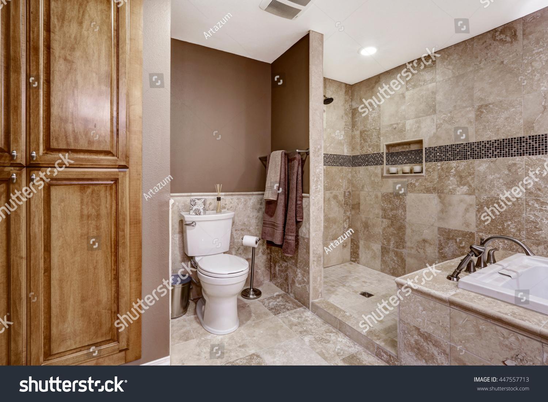Beautiful Dark Shower Light Floors Bathroom Houses Flooring Picture Ideas