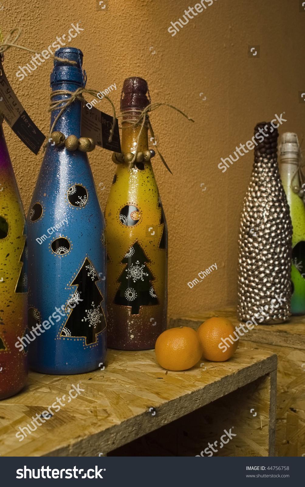 olive decor of alamy on display decorative bottles stock photo oil