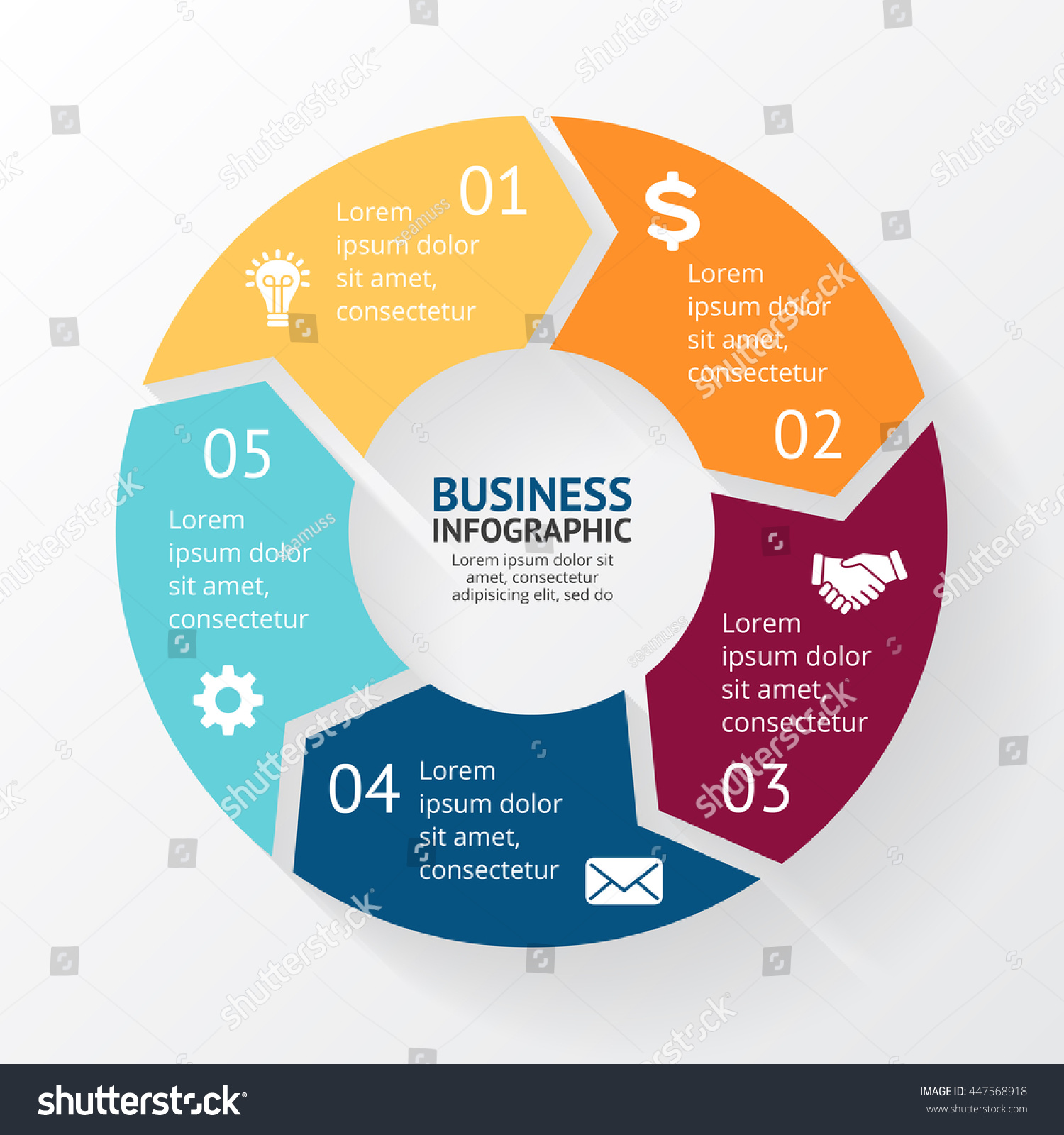 Process cycling arrow by arrow royalty free stock images image - Vector Circle Arrows Infographic Cycle Diagram Round Graph Presentation Chart Business Concept