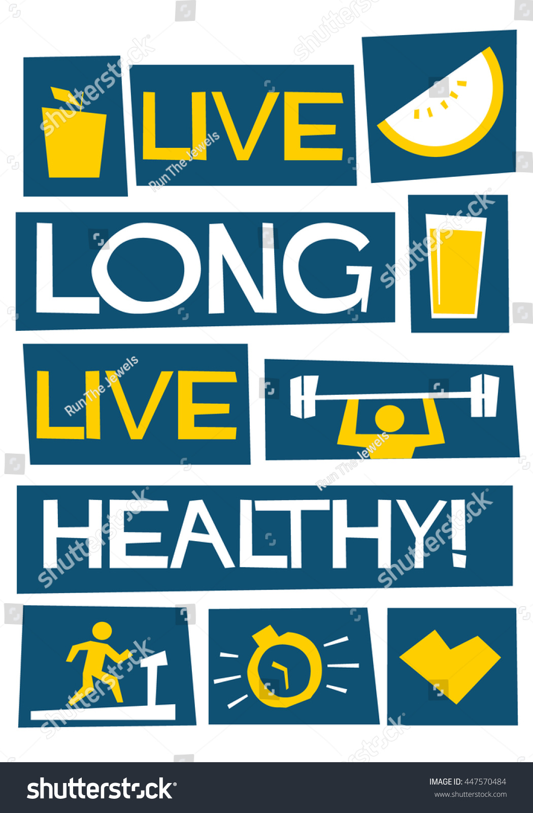 Live Long Live Healthy! (Motivational Health Quote Vector Poster Design)