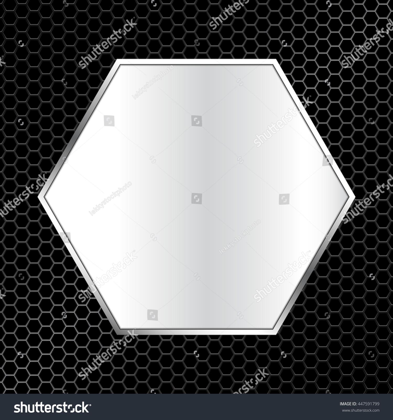 Abstract Metal Texture Background Hexagon Frame Stock Vector ...
