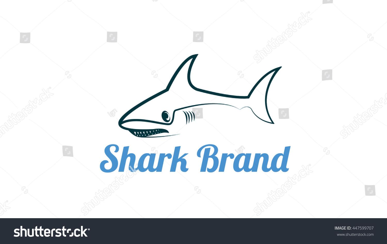 Shark Vector Logo Template Stock Vector 447599707 - Shutterstock