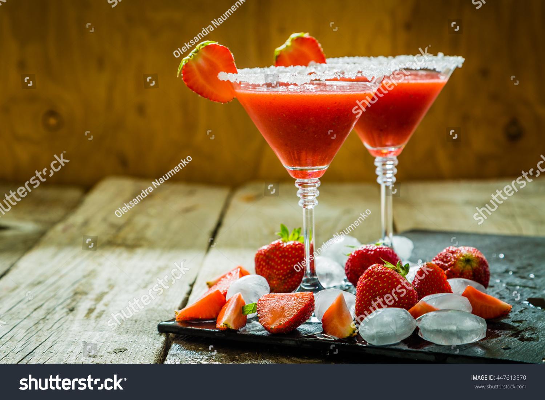 Strawberry Margaritas Ingredients Stock Photo 447613570 ...