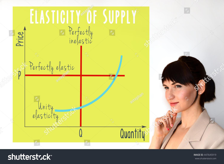 Price Elasticity Supply Graph Marketing Economic Stock Photo Edit