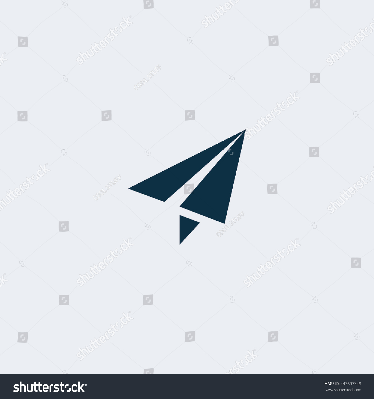 Paper Plane Icon Isolated On White Background Vector Symbol Ez Canvas