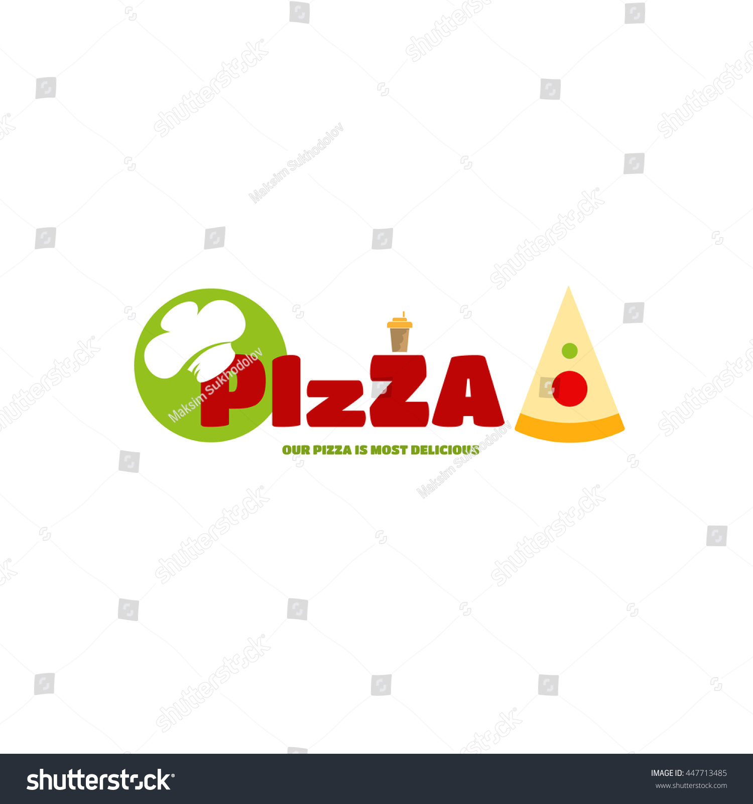 Italian cafe symbol text wearing chef stock vector 447713485 italian cafe symbol in the text wearing chef hat a piece of cake at buycottarizona
