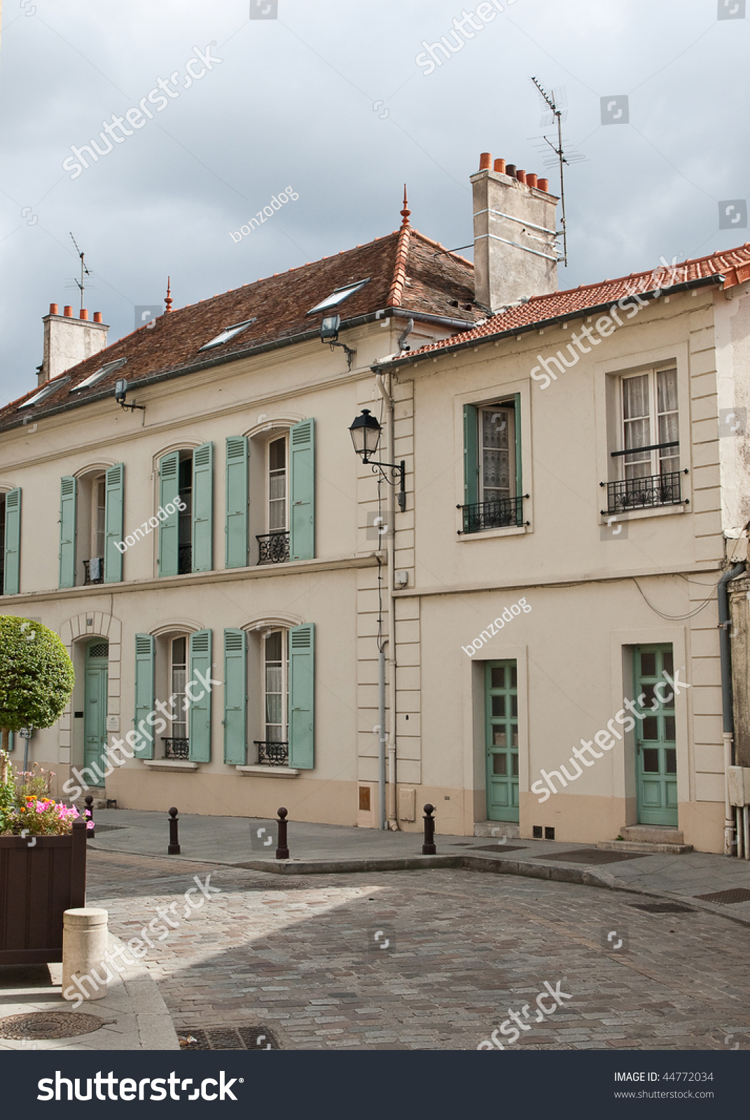 Classic house on the street france stock photo 44772034 for Classic house green street