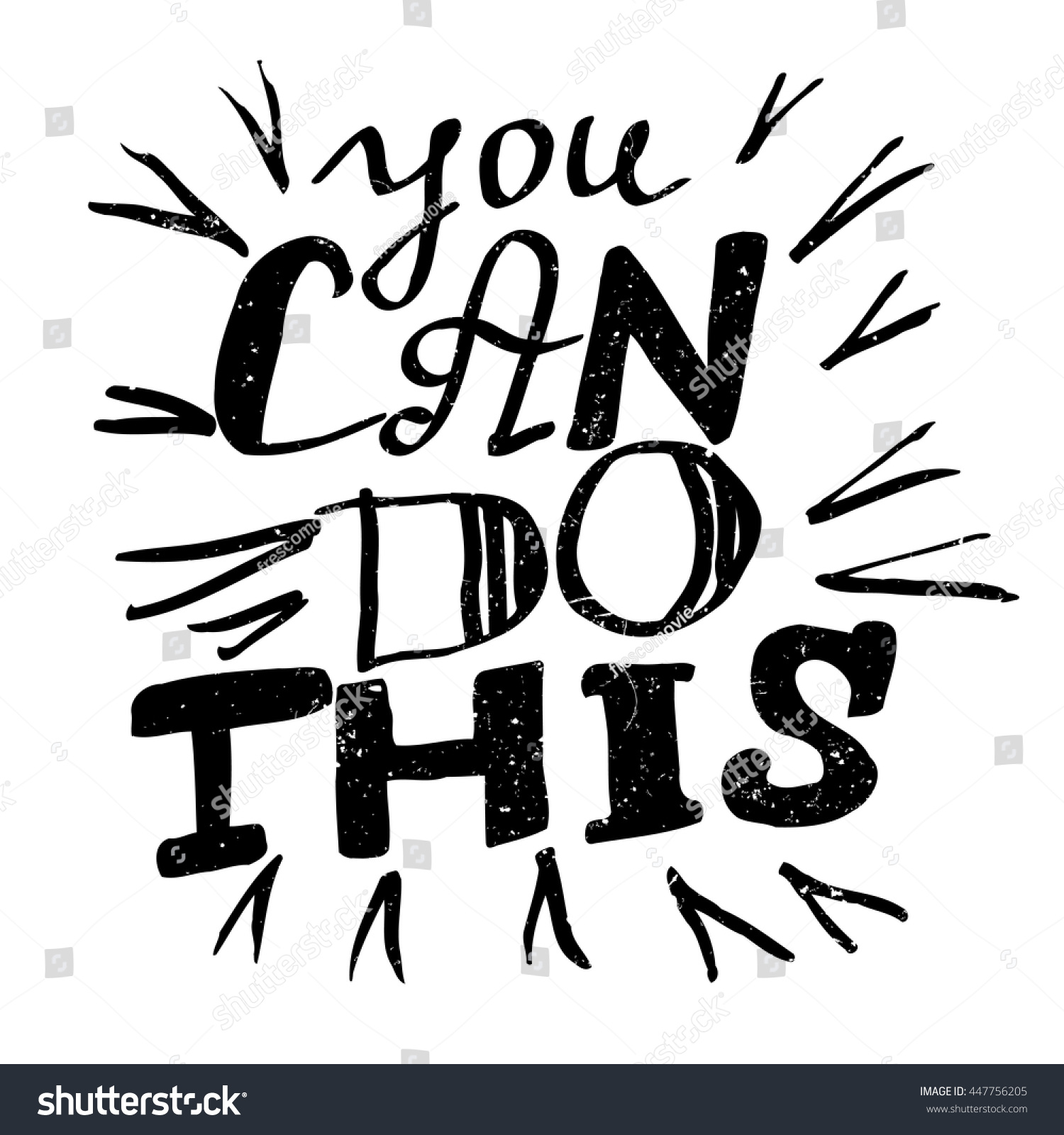 Quotes You Can Do It Inspirational Quote You Can Do This Stock Vector 447756205
