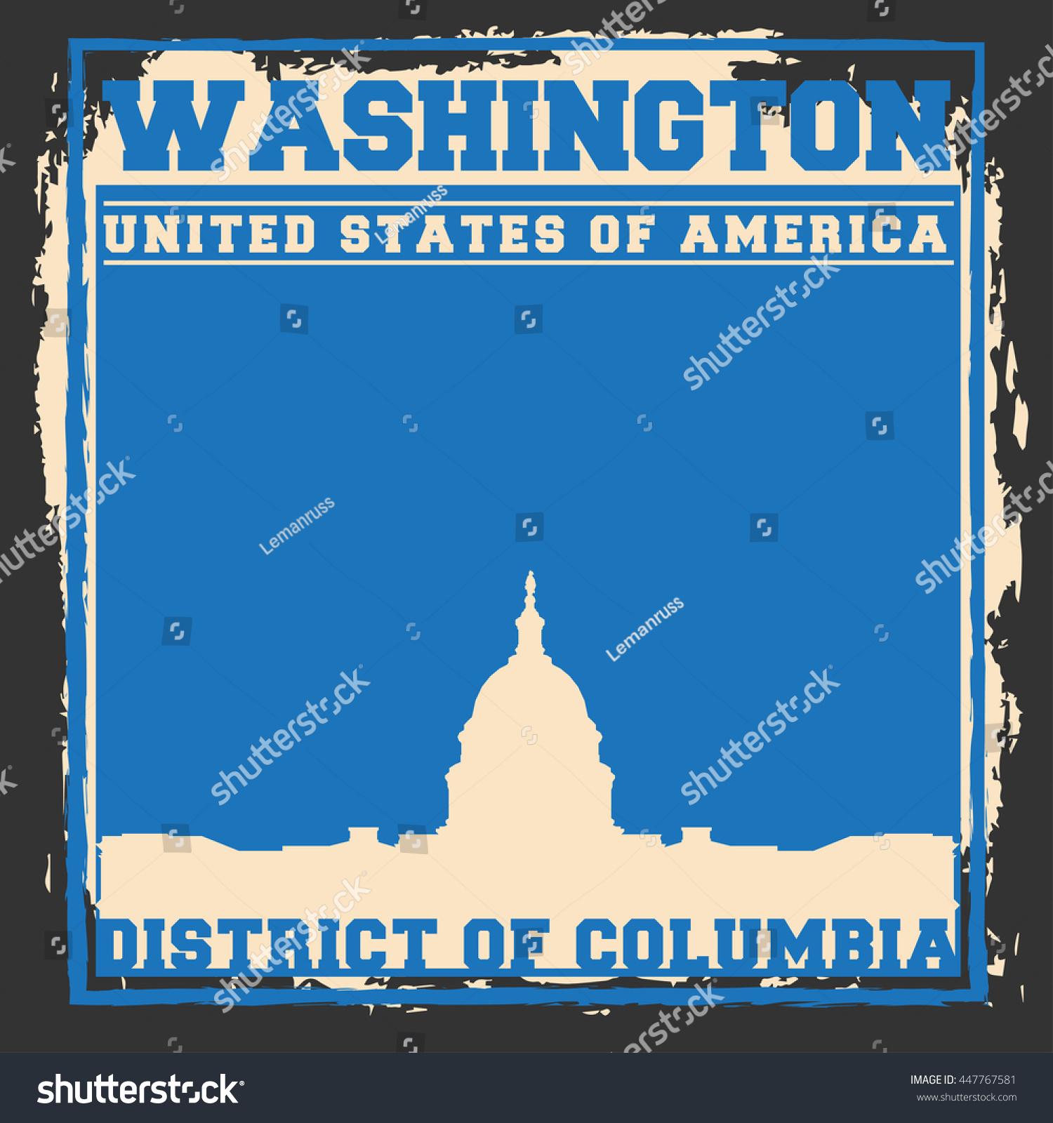 Washington Dc City Concept Logo Label Stock Vector Royalty Free