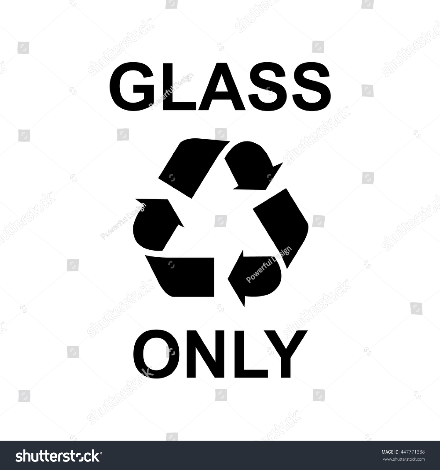 Glass Recycling Symbol Stock Vector Royalty Free 447771388