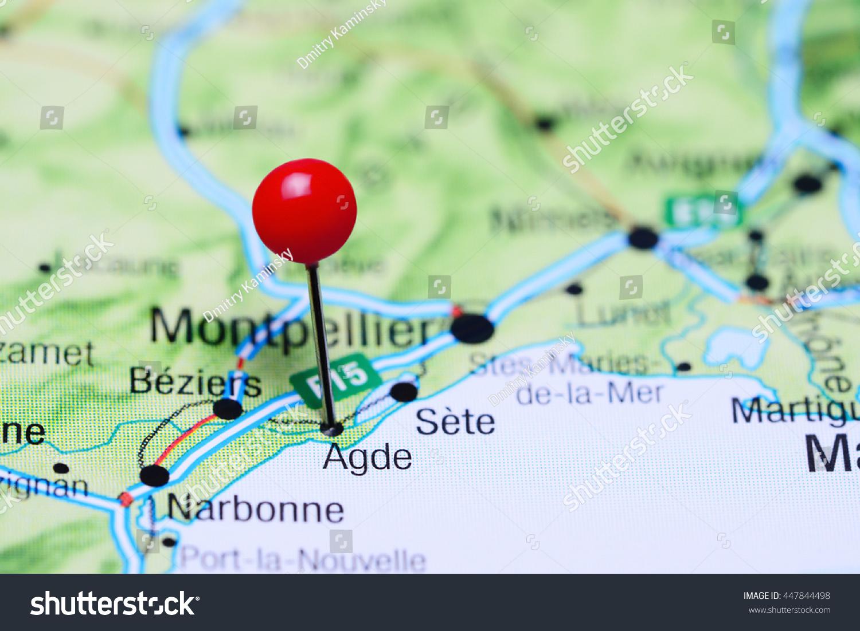 Agde Pinned On Map France Stock Photo 447844498 Shutterstock