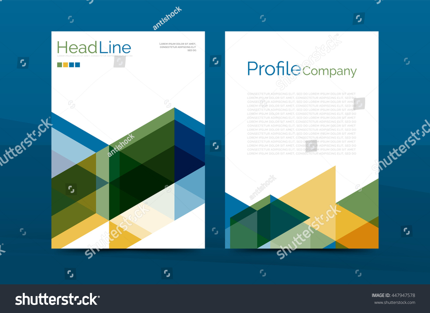 color business brochure cover template annual report front page color business brochure cover vector template annual report front page a4 size leaflet