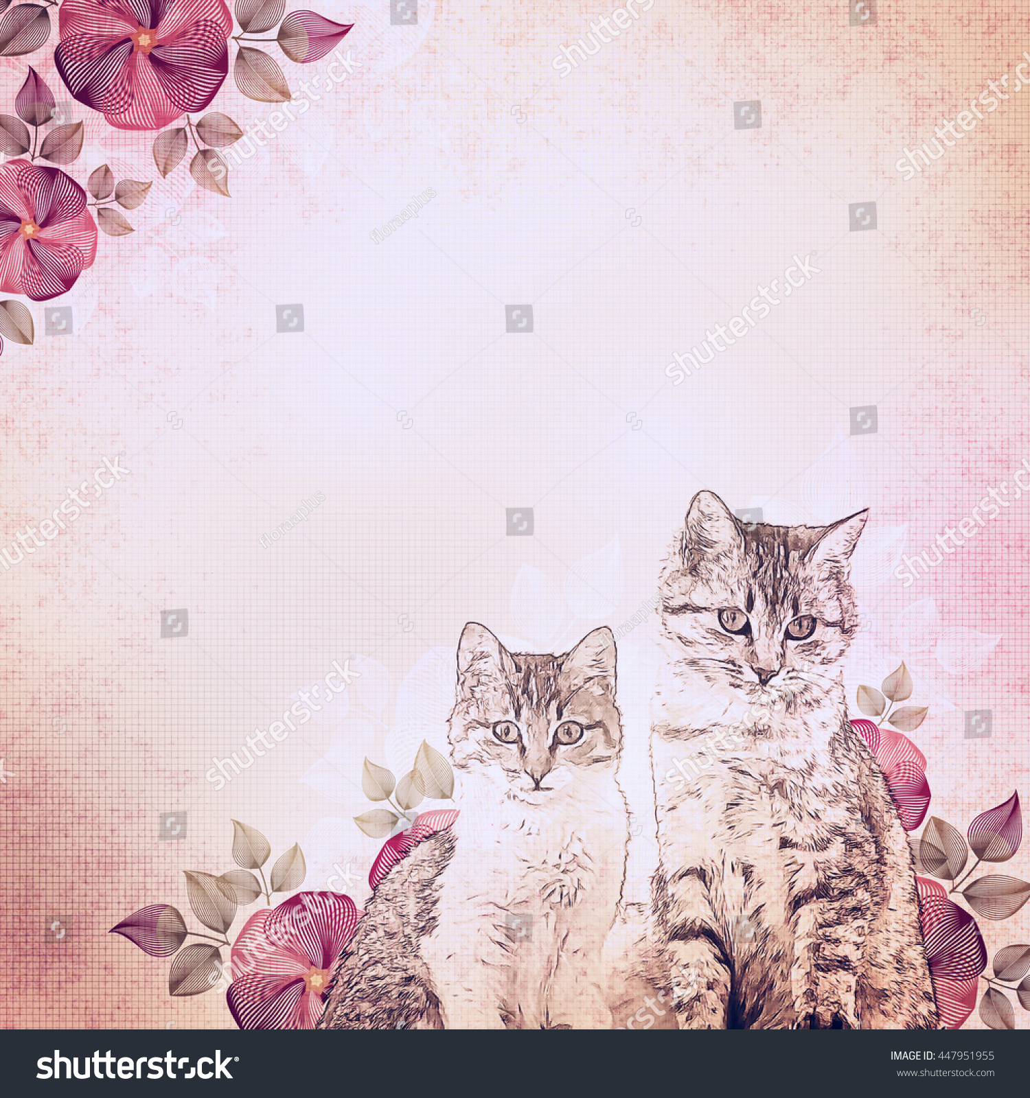 stock-photo-ancient-illustration-kittens
