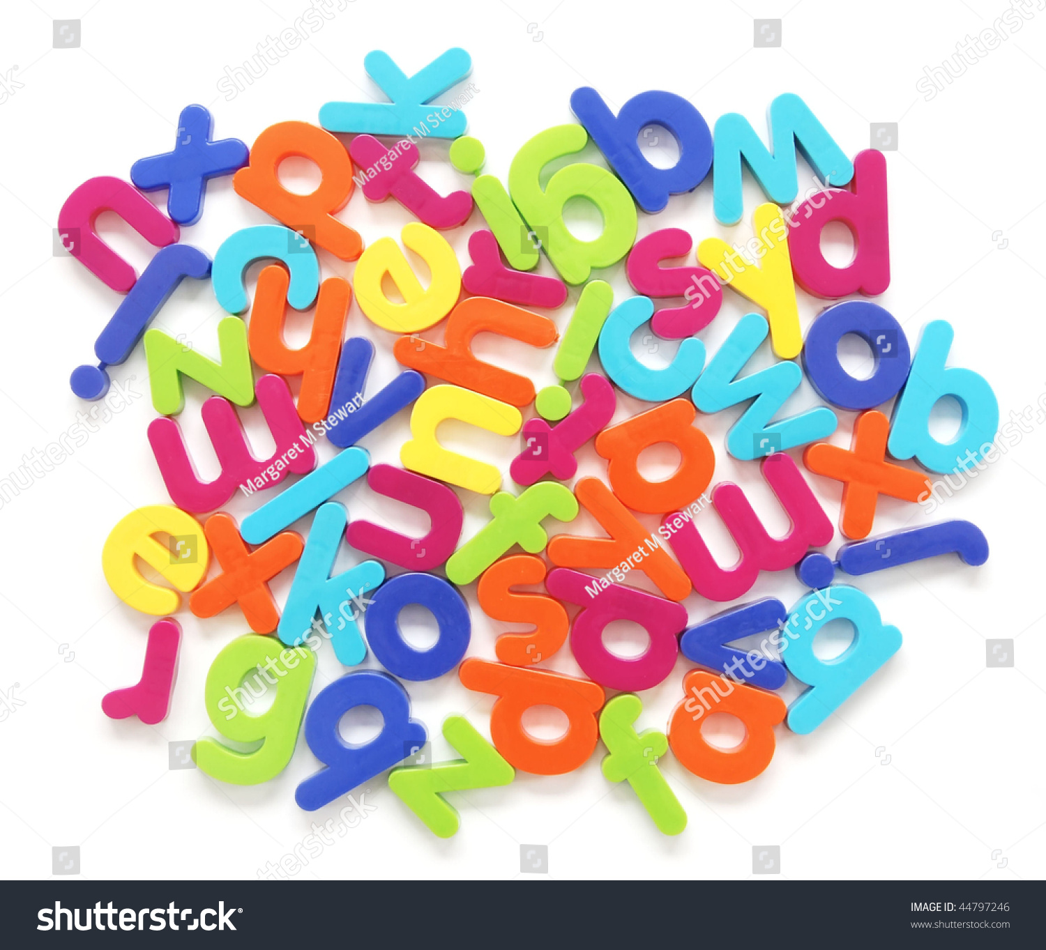Jumble Of Letters Stock Photo 44797246 Shutterstock