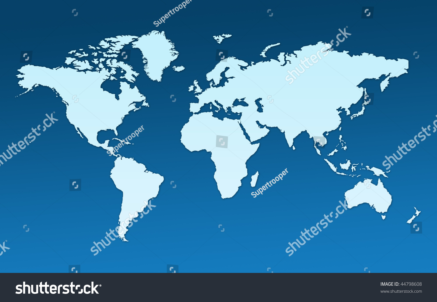 Map Whole World Images All Continents Stock Illustration - World flat map
