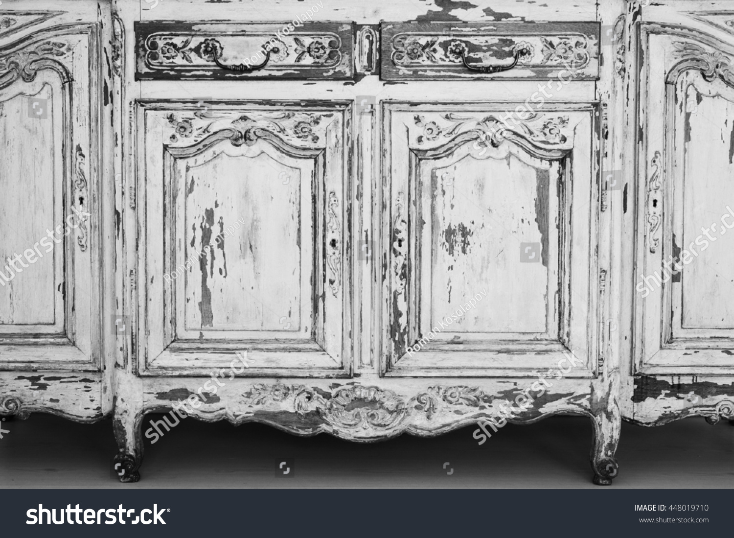 closeup keyhole ancient white commode bureau stock photo 448019710 shutterstock. Black Bedroom Furniture Sets. Home Design Ideas