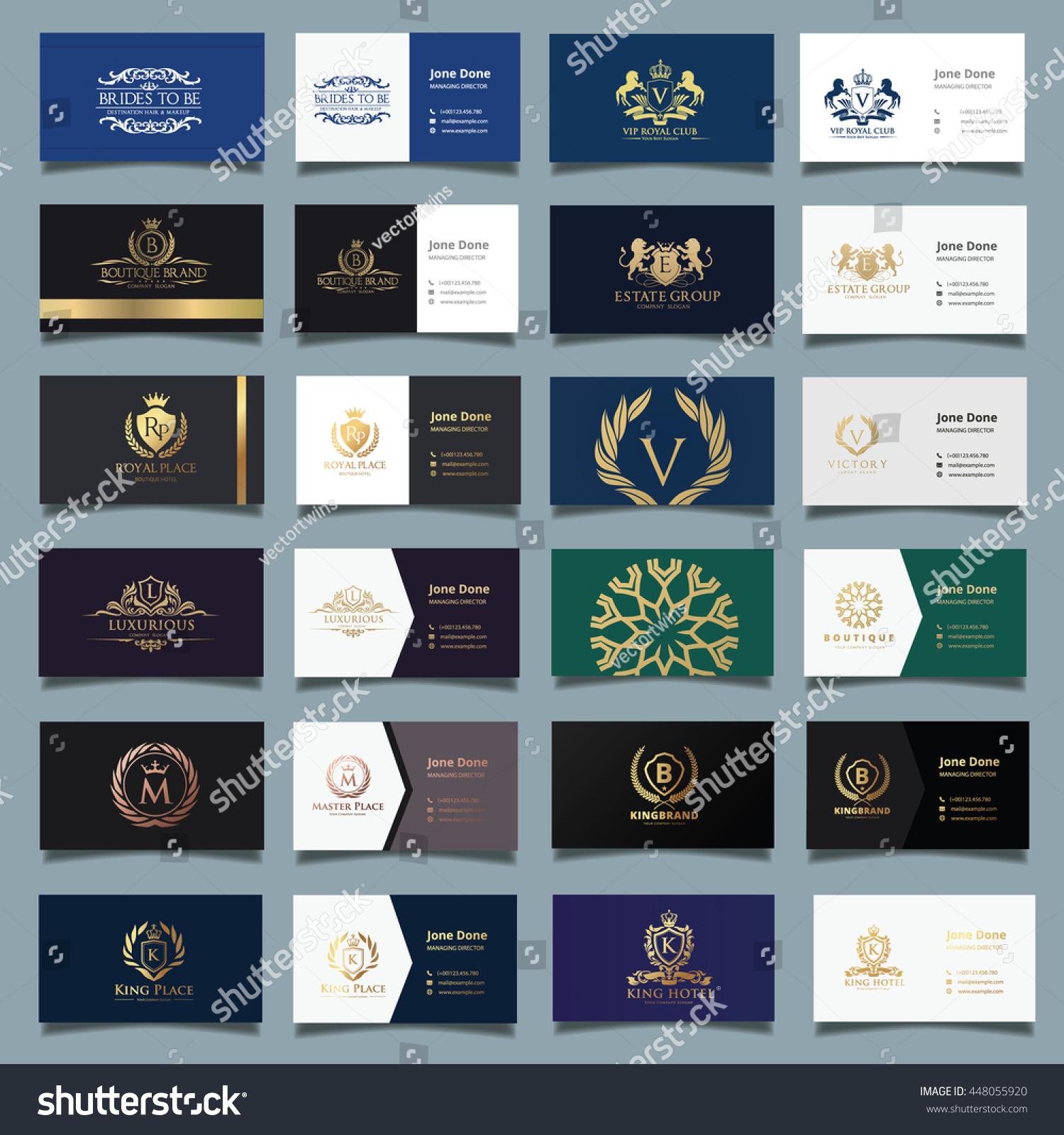 Business Card Template Luxury Logobrand Identitystationary Stock ...